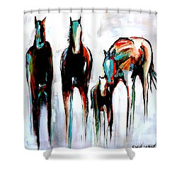 Abstract Horse 3 Shower Curtain