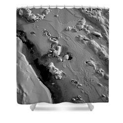Abstract Ice Snow Patterns In Winter In Black And White Shower Curtain