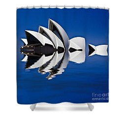 Abstract Of Sydney Opera House Shower Curtain by Avalon Fine Art Photography