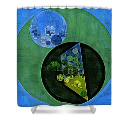 Shower Curtain featuring the digital art Abstract Painting - Amazon by Vitaliy Gladkiy