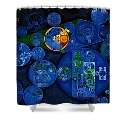 Shower Curtain featuring the digital art Abstract Painting - Dark Midnight Blue by Vitaliy Gladkiy