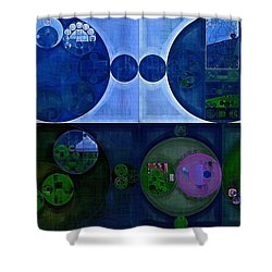 Shower Curtain featuring the digital art Abstract Painting - Saint Patrick Blue by Vitaliy Gladkiy