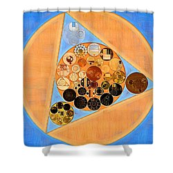 Shower Curtain featuring the digital art Abstract Painting - Sandy Brown by Vitaliy Gladkiy