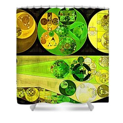 Shower Curtain featuring the digital art Abstract Painting - Starship by Vitaliy Gladkiy