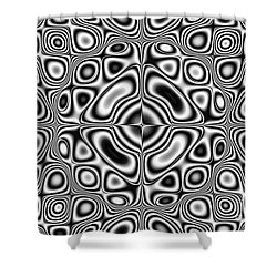 Abstract Pattern - Kaleidoscopic Pattern Shower Curtain by Michal Boubin