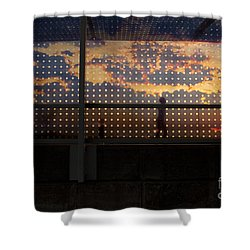 Abstract Silhouettes Shower Curtain