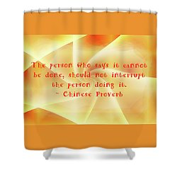 Achievement Shower Curtain by John M Bailey