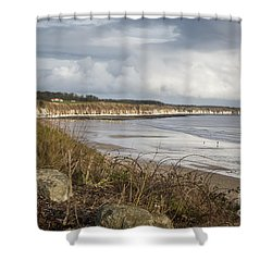 Across The Bay Shower Curtain