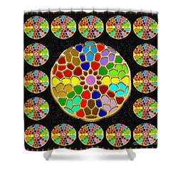 Acrylic Painted Round Colorful Jewel Patterns By Navinjoshi At Fineartamerica.com   Also Available O Shower Curtain