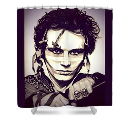 Adam Ant Shower Curtain by Fred Larucci