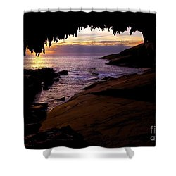 Admiral's  Arch Sunset Shower Curtain by Mike Dawson