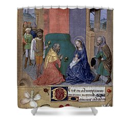 Adoration Of Magi Shower Curtain by Granger
