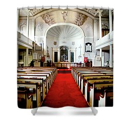 Shower Curtain featuring the photograph Aisle Of God by Greg Fortier