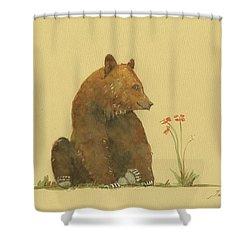 alaskan grizzly bear shower curtain