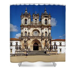 Alcobaca Monastery Shower Curtain by Jose Elias - Sofia Pereira