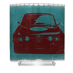 Alfa Romeo Gtv Shower Curtain by Naxart Studio