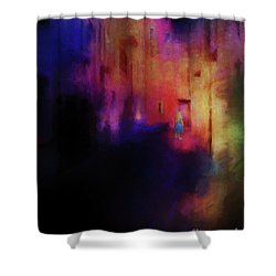 Alice Shower Curtain by Jim  Hatch
