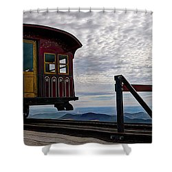 All Aboard Shower Curtain by Deborah Klubertanz