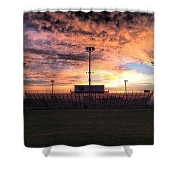Alma High School Don Miller Field Sunrise Bleachers Shower Curtain
