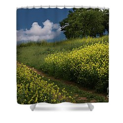 Almaden Meadows' Mustard Blossoms Shower Curtain