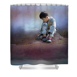 Alone Shower Curtain by Eva Lechner
