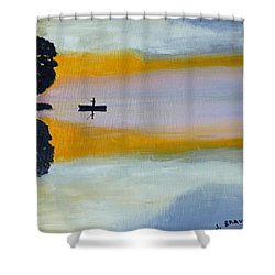Alone Shower Curtain by Jack G  Brauer