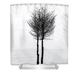 Shower Curtain featuring the photograph Alone Together by Odd Jeppesen