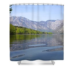 Shower Curtain featuring the photograph Alpine Clarity by Ian Middleton