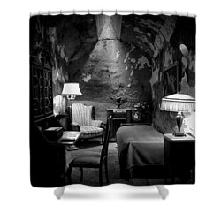 Shower Curtain featuring the photograph Al's Place by Richard Reeve