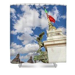 Altare Della Patria Roma Shower Curtain