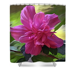 Althea Hibiscus I Shower Curtain by Patricia Griffin Brett