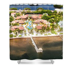 Ambergris Caye Aerial View Shower Curtain