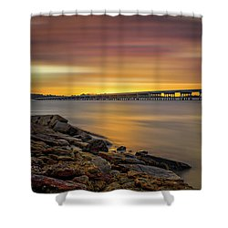 Shower Curtain featuring the photograph Amelia Island by Peter Lakomy