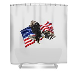 America Shower Curtain by Owen Bell