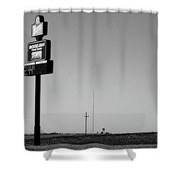 Shower Curtain featuring the photograph American Interstate - Kansas I-70 Bw 4 by Frank Romeo