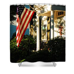 Americana Shower Curtain by James Kirkikis