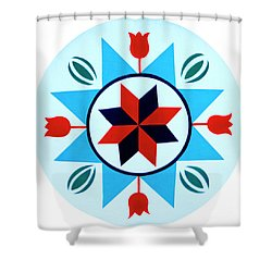Shower Curtain featuring the photograph Amish Hex Design by Paul W Faust - Impressions of Light