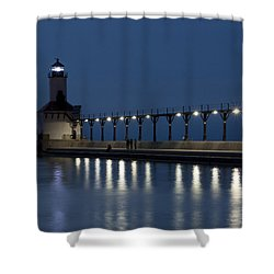 An Evening At The Lighthouse Shower Curtain