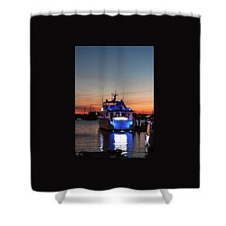 Shower Curtain featuring the photograph An Evening In Newport Rhode Island by Suzanne Gaff