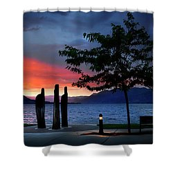 Shower Curtain featuring the photograph A Sunset Story by John Poon