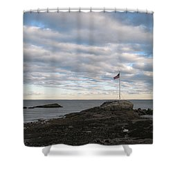 Anchor Beach Shower Curtain by John Scates