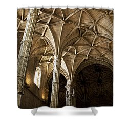 Lisbon Cathedral's Ancient Arches  Shower Curtain by Lorraine Devon Wilke