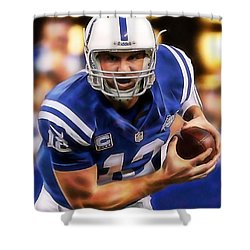 Andrew Luck Collection Shower Curtain