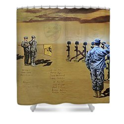 Angels Of The Sand Shower Curtain by Todd Krasovetz