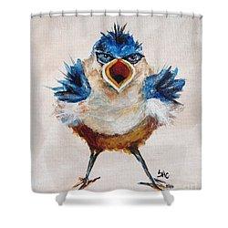 Angry Bird Shower Curtain By Susan Cliett