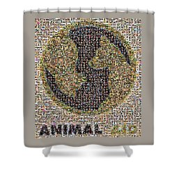 Animal Aid 2017  Shower Curtain