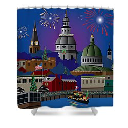 Annapolis Holiday Shower Curtain