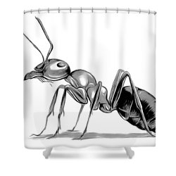 Ant Shower Curtain by Greg Joens
