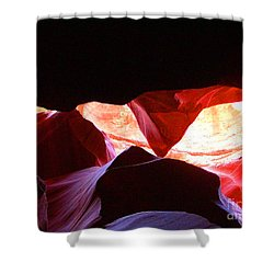 Antelope Slot Canyon - Astounding Range Of Colors Shower Curtain by Merton Allen