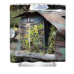 Shower Curtain featuring the photograph Antique Mack Truck by Charles Harden